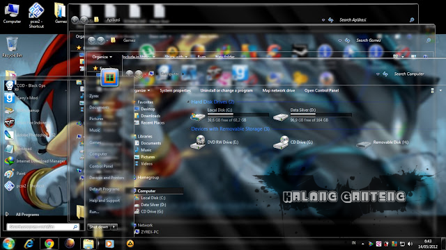 Clearglass theme for Win7 Screenshot