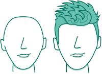 potongan rambut pria untuk wajah diamond/wajik