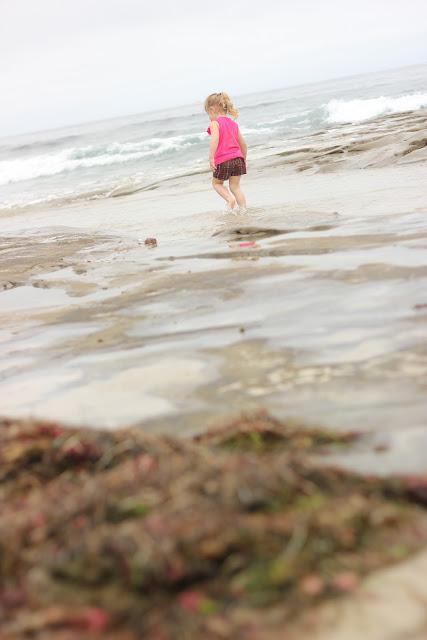 Little Girl At The Ocean