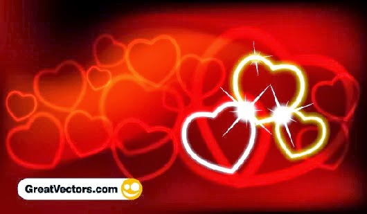 Valentine's Day Red Abstract Background