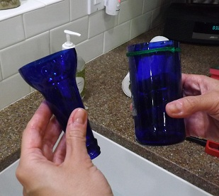 Biddle bits how to cut glass bottles using polish remover for How to smooth cut glass bottles