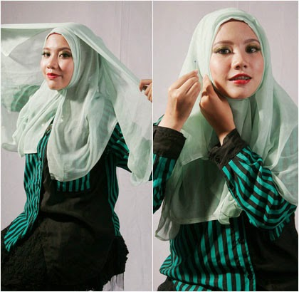 Tutorial Hijab Paris Aksen Wave 4