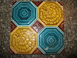 Majolica Tile -Blue and Yellow