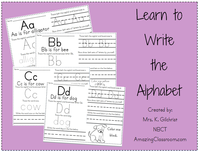 ABCs worksheets for preschoolers