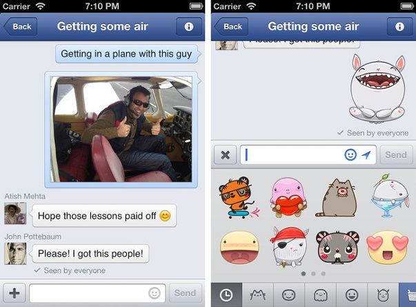 Download Facebook Messenger Application for iPhone