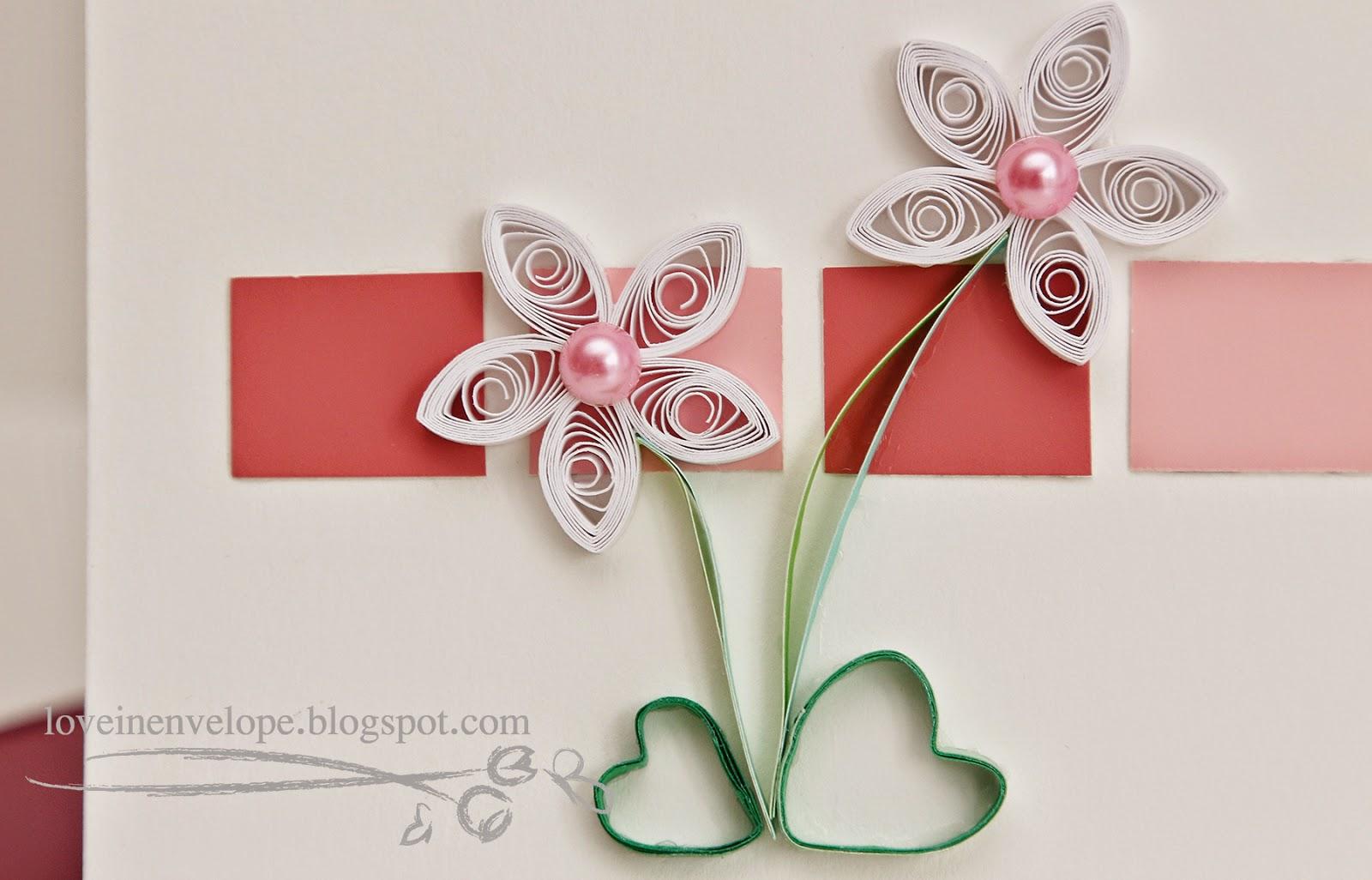 Love In Envelope Happy 31st Birthday Handmade Quilled White Flowers