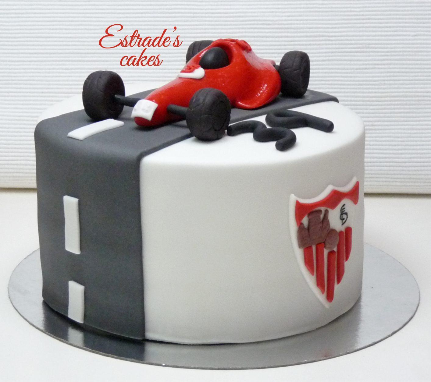 tarta del Sevilla FC y Formula 1 - 1