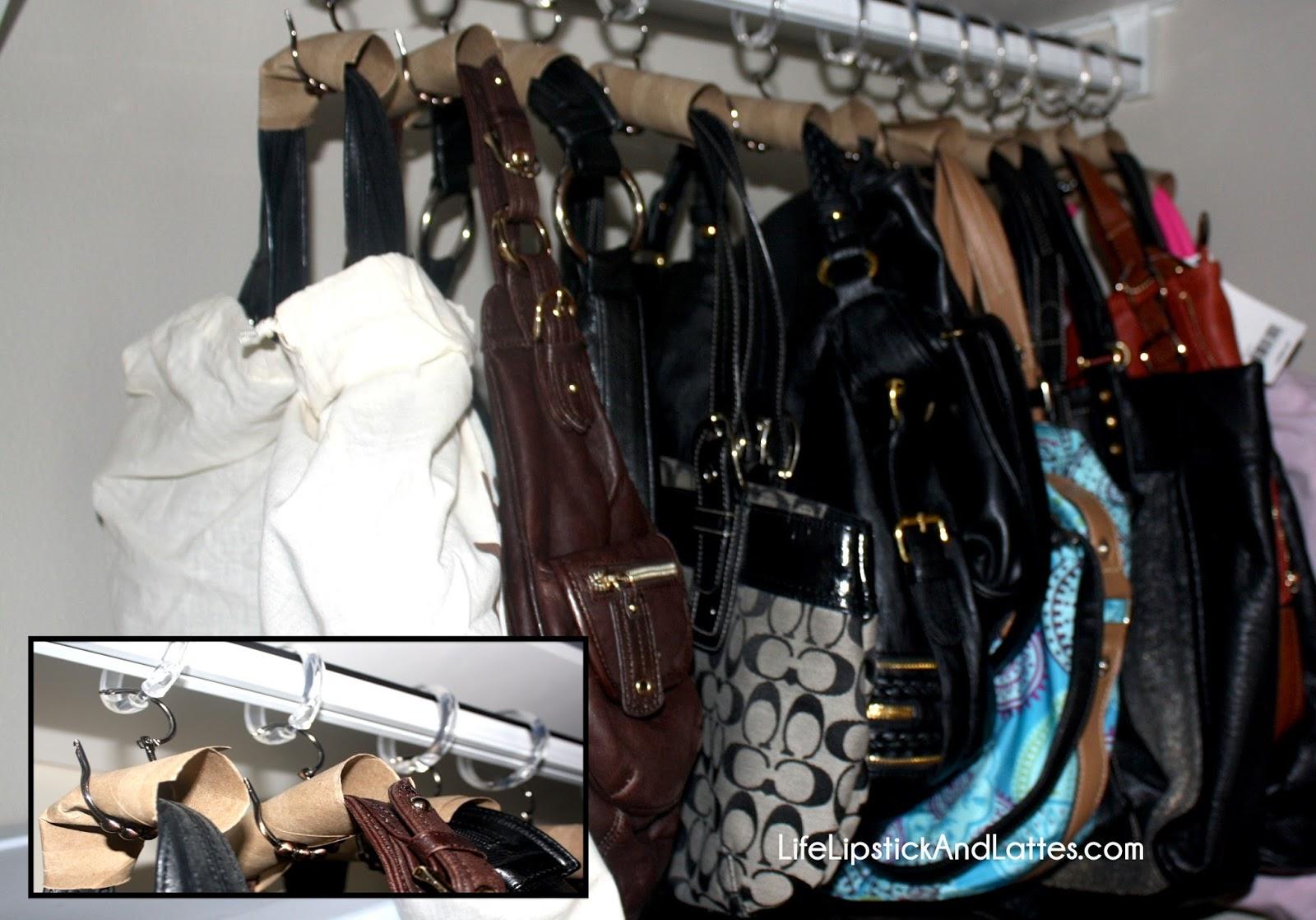 Uses For Toilet Paper Rolls, Shower Curtain Hangers, Purse Hangers, Handbag  Hanger,
