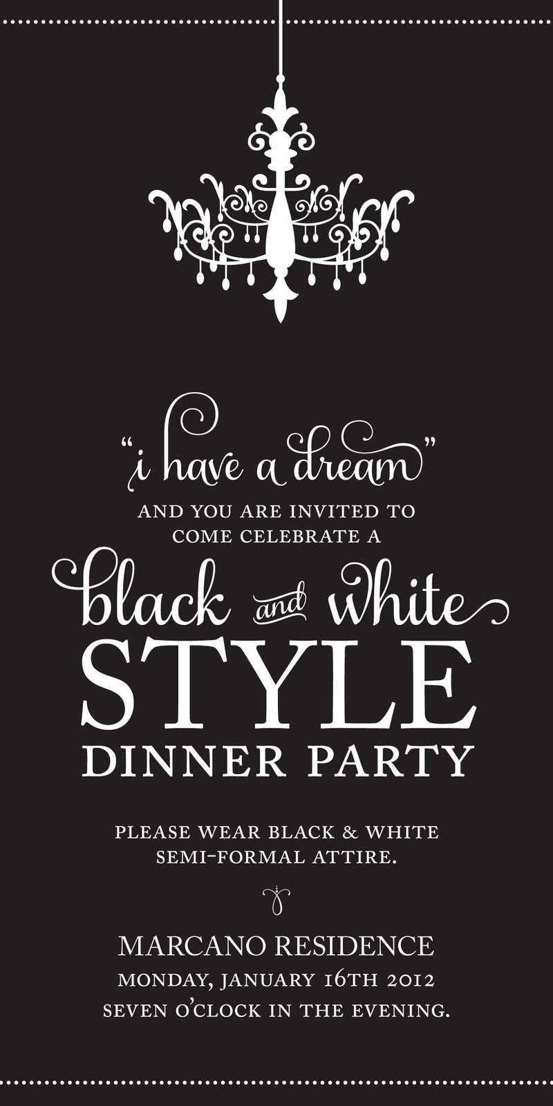 cm2}: Black and White Party 2012 { MLK Day }