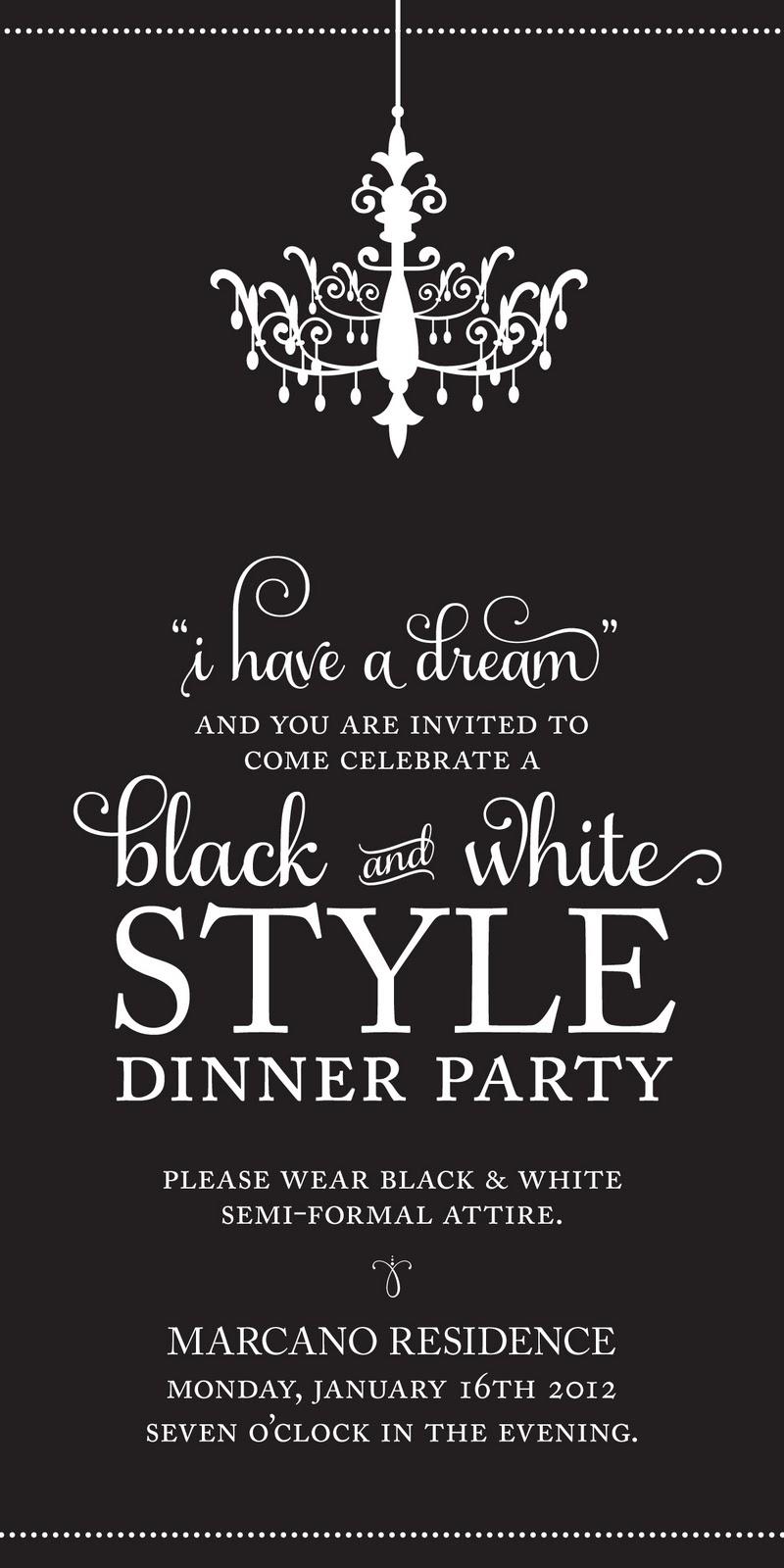 Magnificent Black And White Party Invite Photos - Invitation Card ...