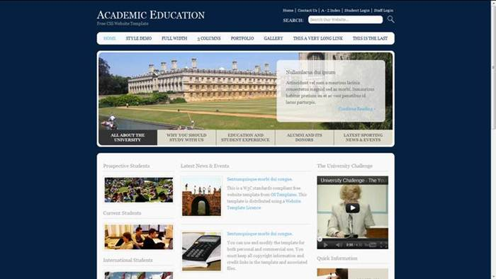 Academic Education Free CSS Template