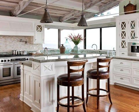 A Coastal Kitchen Tiles Backsplash Brings the Ocean Inside
