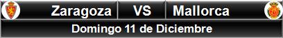 Zaragoza vs Mallorca