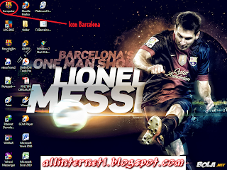 Download Tema FC BARCELONA untuk windows 7