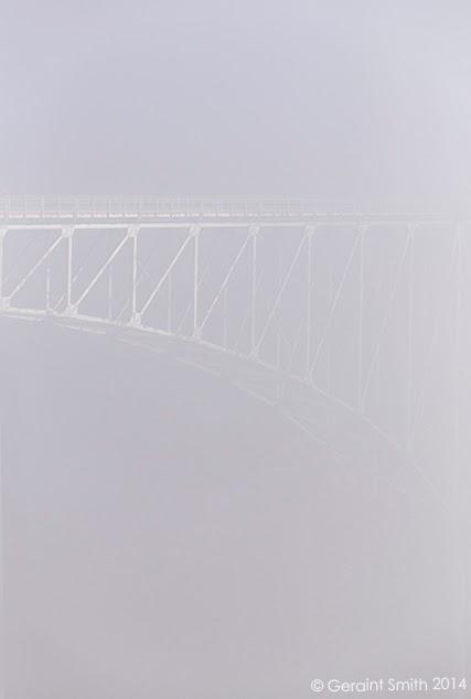 rio grande gorge bridge detail, taos new mexico