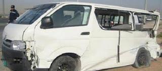 مصرع سيدة نت العسيرات وإصابة ١٠ آخرين في حادث انقلاب سيارة بالصحراوي الغربي بديروط