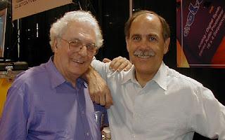 Dos grandes pioneros en el NAMM de 2003, Robert Moog y Dave Smith