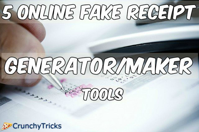 5 online fake receipt maker generator tools