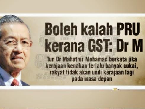 Mahathir Tolak GST