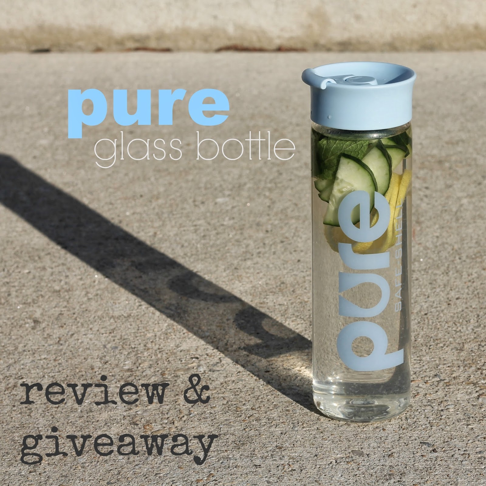 PURE glass water bottle review - mamabelly.com