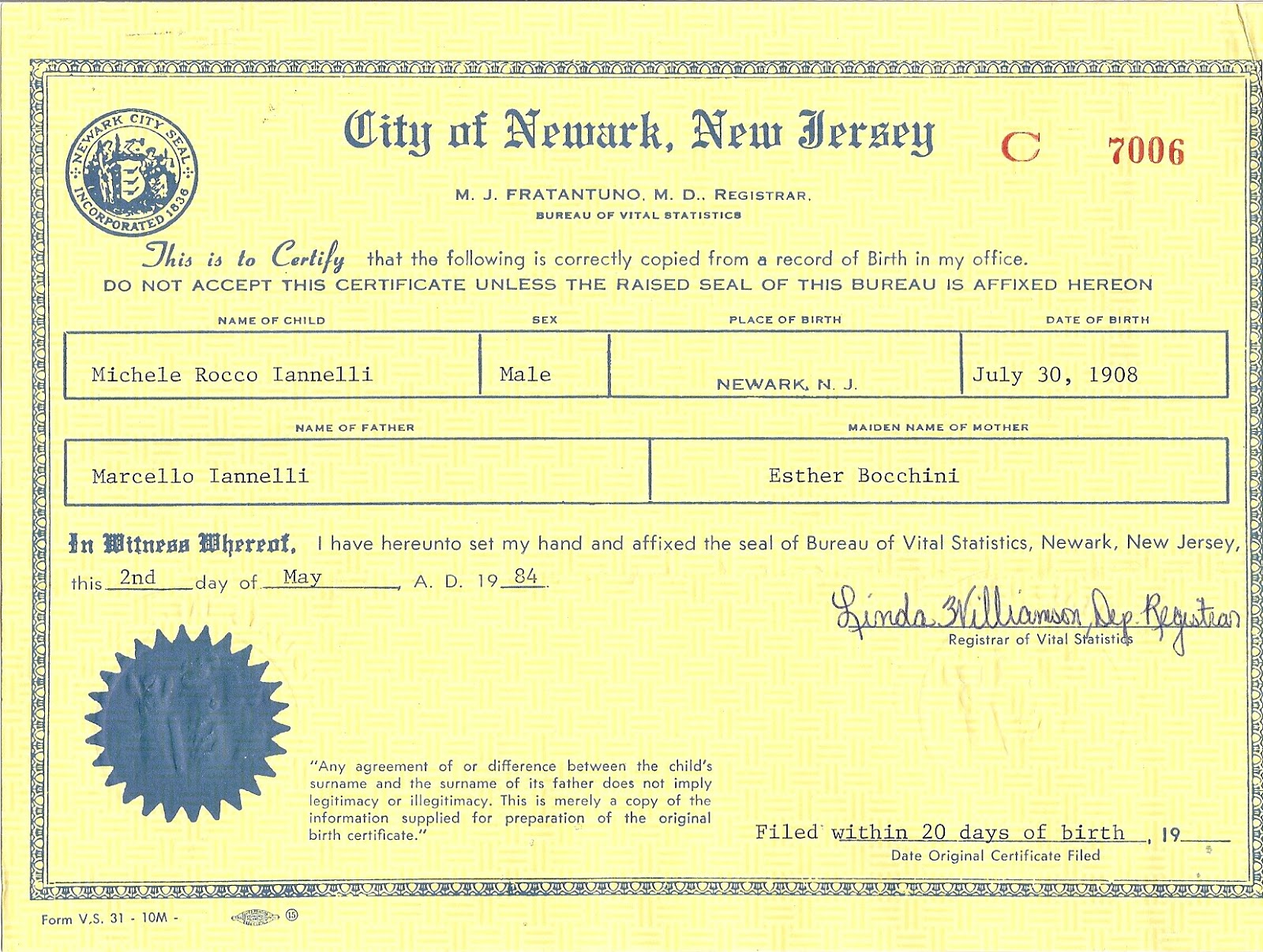 A record of those who came before us october 2012 correction from original birth certificate 1betcityfo Image collections