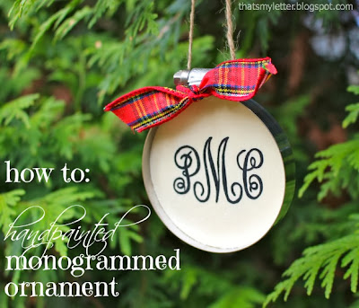 diy monogrammed ornament