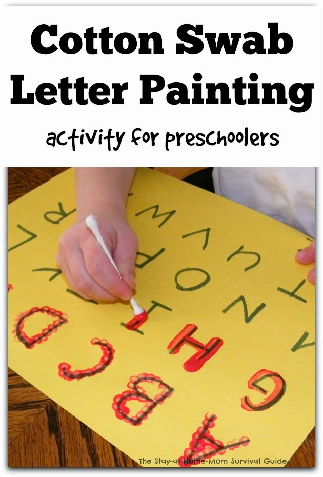 Learning to Write the Alphabet with Cotton Swab Painting - The ...