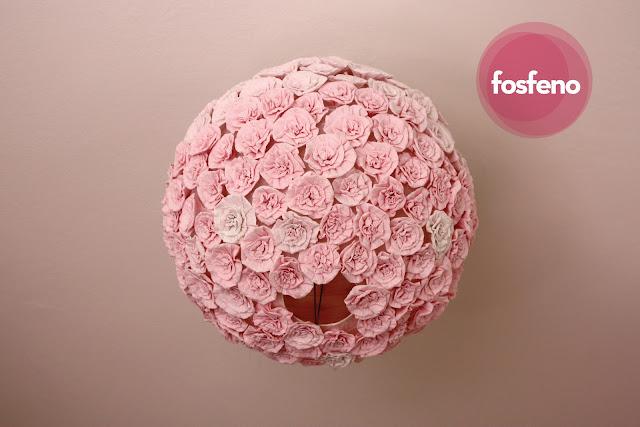 fosfeno candeeiro flores rosa