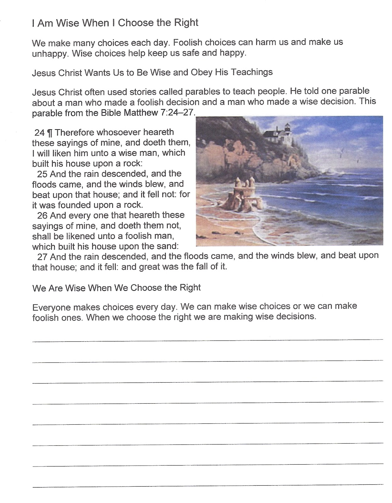 Happy Clean Living: Primary 2 Lesson 36