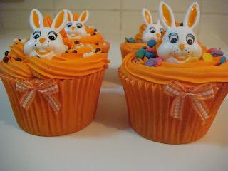 Cupcake de páscoa laranja
