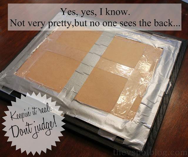 duck tape, cardboard, photo backing, diy, cheap, easy