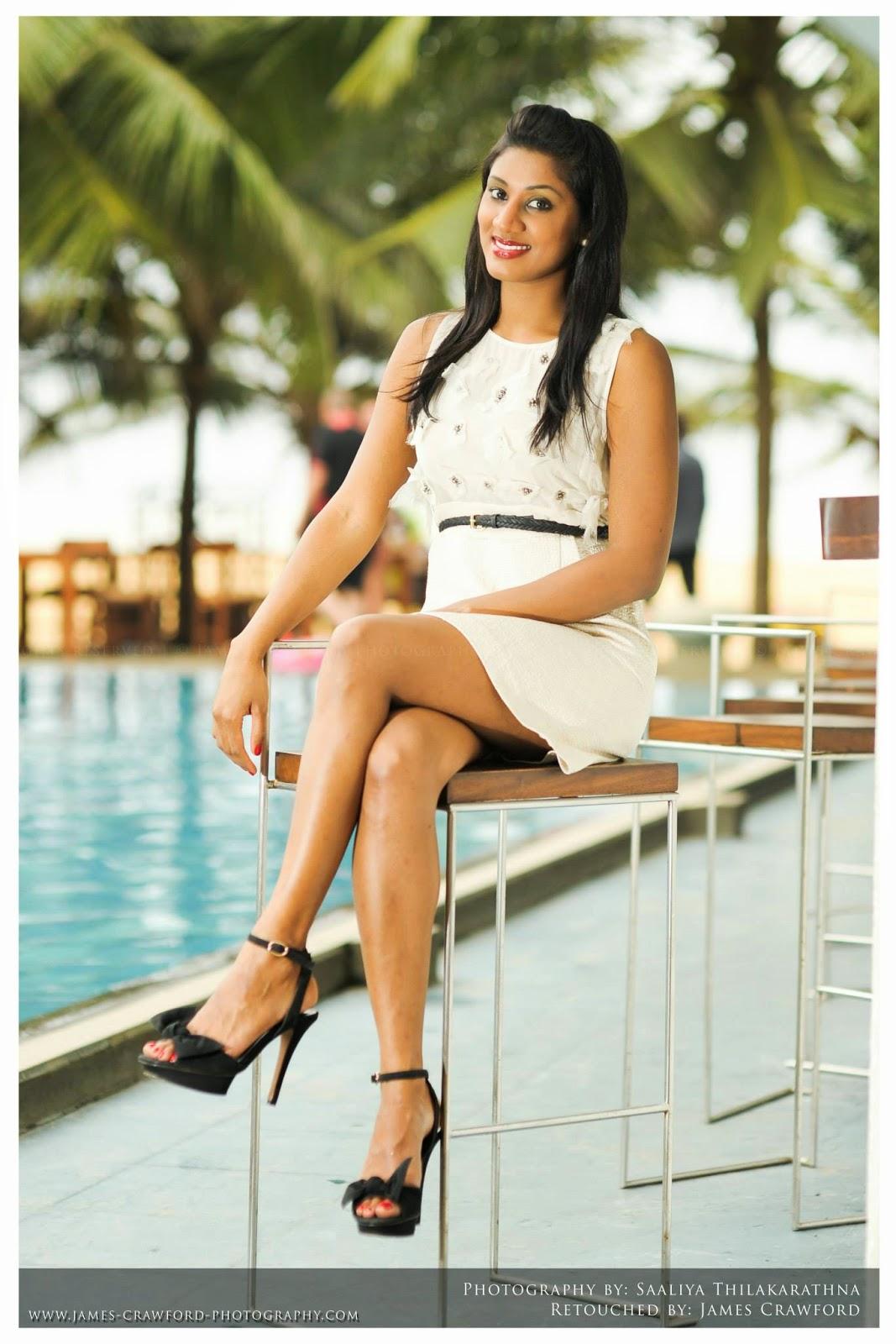 Milana Gamage crossed legs