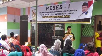 """Pungli"" Menjadi Sorotan Warga Dalam Reses I Tahun 2015 Anggota DPRD Medan F-PKS"