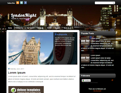LondonNight Blogger Theme