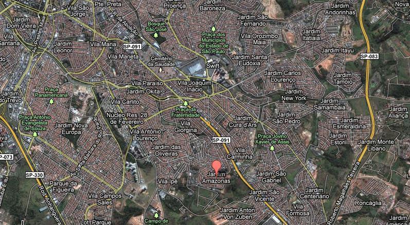 Localização Rua Ajuricaba, s/nº - Jd. Amazonas