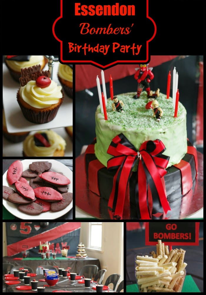 Essendon Bombers Birthday Party Ideas