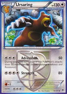 Ursaring Plasma Blast Pokemon Card