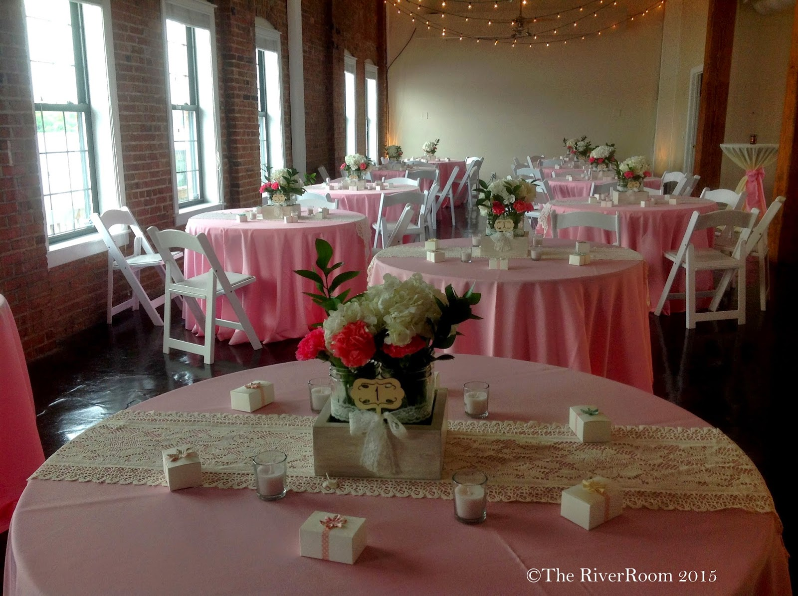 Wedding Room Decorations North East : Sarah matt s pops of pink wedding day rsvp the