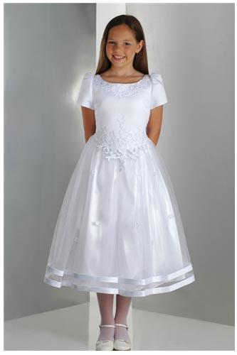 Vestidos de primera comunion cortos para gorditas