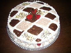 Torta morangos e chocolate