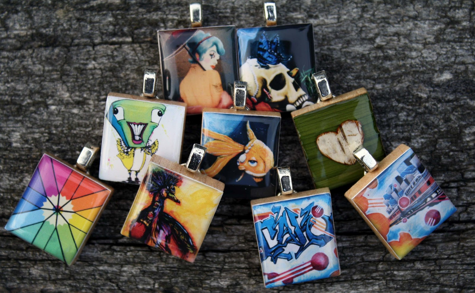 Kitti and calos craft adventures using resin or epoxy drop scrabble tile pendant mozeypictures Gallery