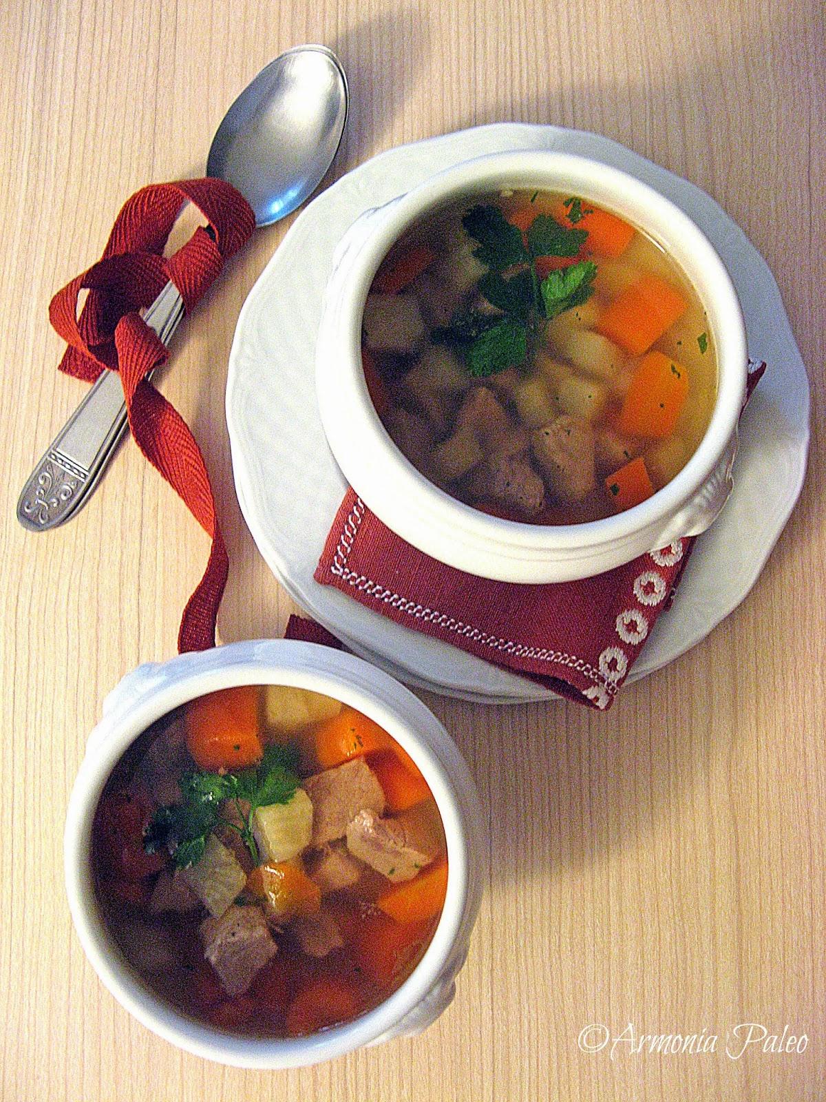 Mäsová Polievka - Zuppa di Carne Slovacca di Armonia Paleo