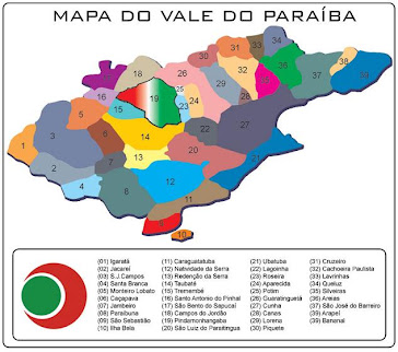 MAPA DA REGIÃO DO VALE DO PARAÍBA/SP/BR