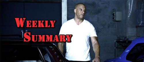 Vin Diesel Weekly Summary