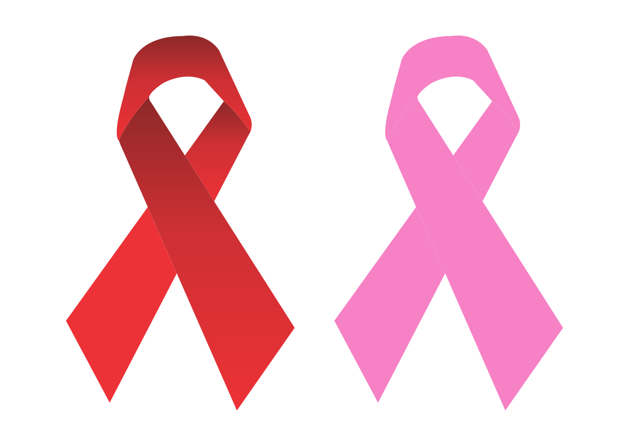 Breast Cancer Ribbon Logo Vector download free