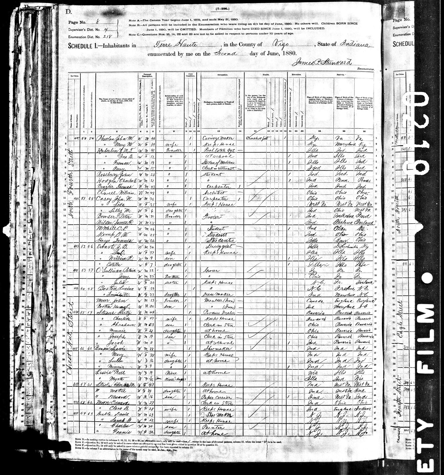 Genea musings 122312 treasure chest thursday 1880 us census record for david auble family aiddatafo Gallery