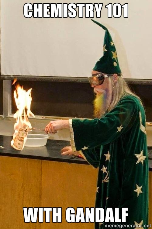 gandalf the wizard subsitute chem teacher