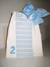 Pack de tres bolsitas numeradas para llevar la ropita del bebé a la clínica