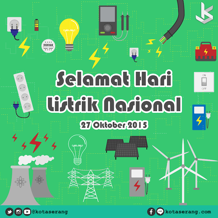 Gambar Vector - Gambar Peringatan Hari listrik nasional 27 Oktober 2015
