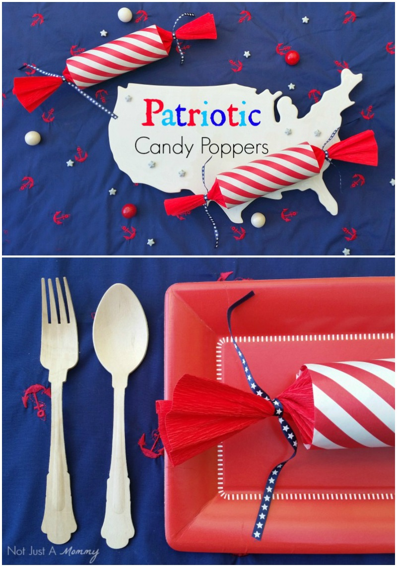 Patriotic candy poppers for your next party